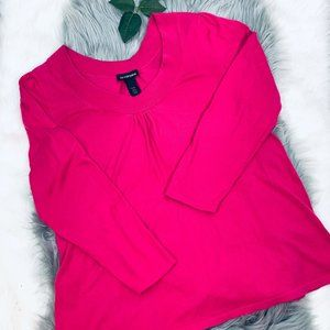 LANE BRYANT  light weight pink sweater blouse